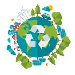Постер, плакат: Eco Friendly green energy concept vector illustration
