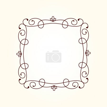 Illustration for Vector decorative  frame .Place for text. - Royalty Free Image