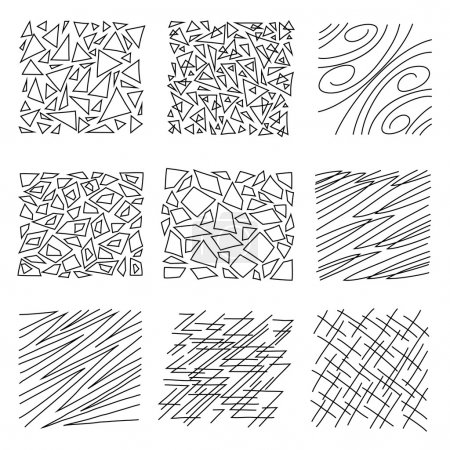 A set of hand-drawn textures.