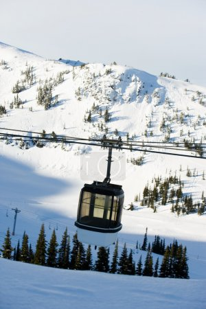 cable car on the ski resort