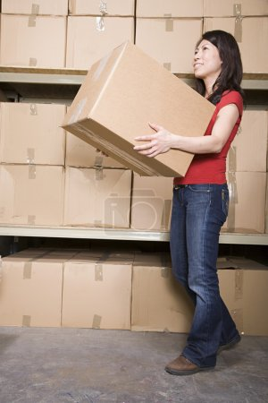 Photo for Woman with cardboard boxes - Royalty Free Image