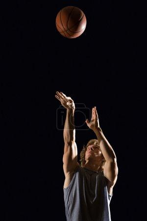 Man throwing basketball
