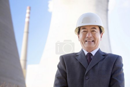 Business man in Hardhat