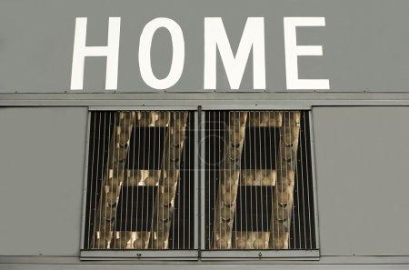 Home score on scoreboard