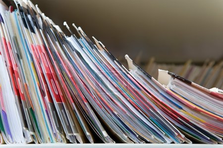 Medical records on the shelf