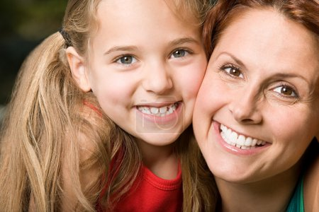 Photo for Mother and daughter smiling portrait - Royalty Free Image