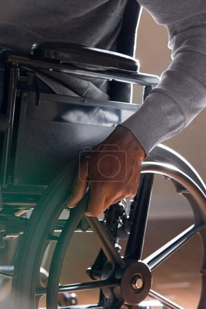 Man using a wheelchair