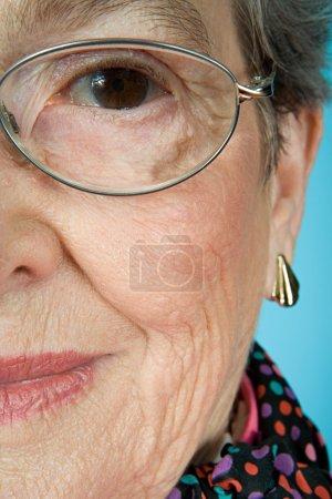 Senior woman wearing glasses