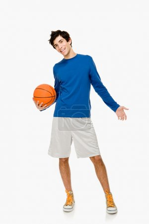 Basketball player with ball in hands