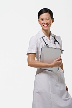 Portrait of a young asian nurse