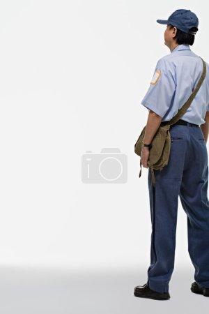 Portrait of a postman back
