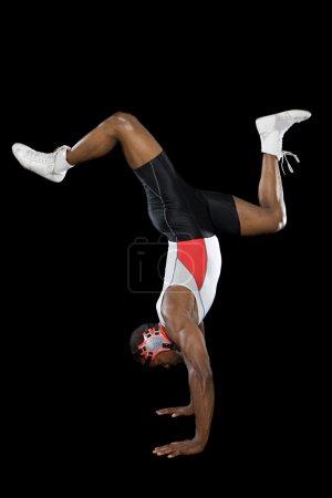 Black male wrestler