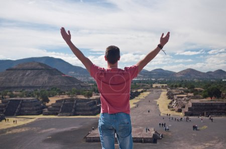 Man in Teotihuacan, Mexico