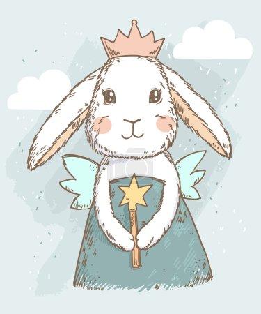 Fairy princess rabbit