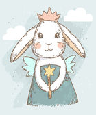 fairy rabbit with magic wand