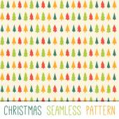 Vector Christmas pattern Tileable thetatic pattern ready for use Colorfully woods