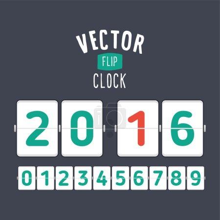 Flat style flip clock
