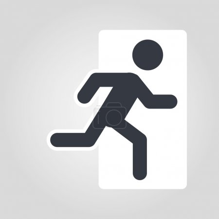 vector emergency exit icon