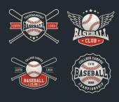 Baseball badge logo design suitable for logos badge banner emblem label insignia and T-shirt design