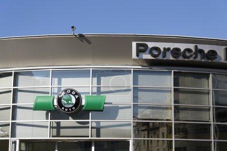 Porsche and Skoda auto logos