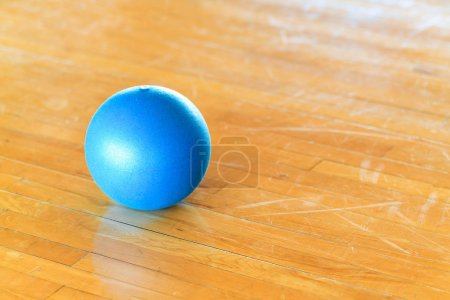blue ball on the table