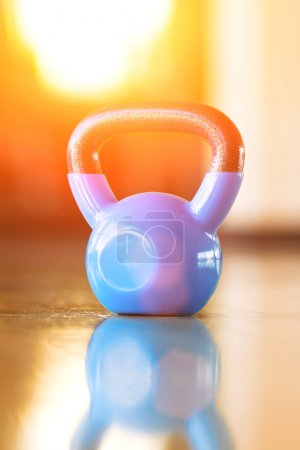 Blue round weight