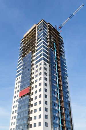 Building construction of skyscraper