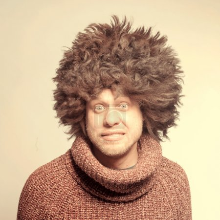 man in fur hat