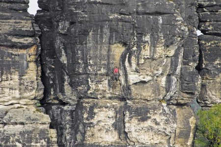 Climber on rock surface