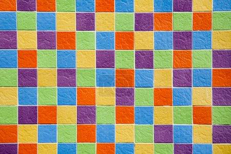 Multicolor mosaic texture