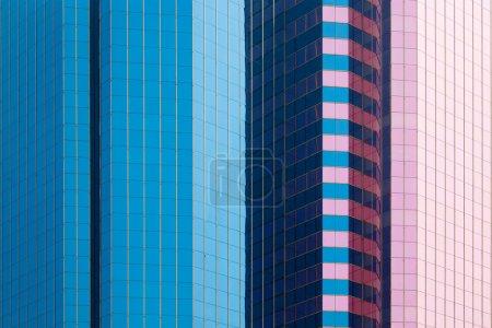 Skyscraper mirror facades
