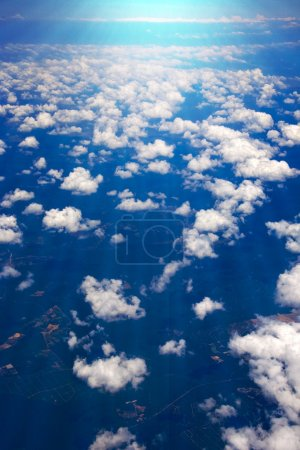 Clouds airplane view