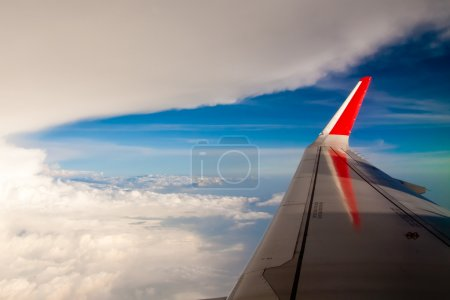 Aerial cloudscape from the airplane