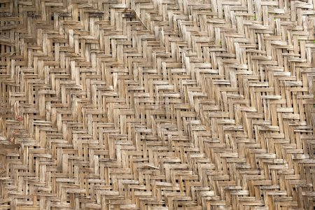 Background of a woven wood