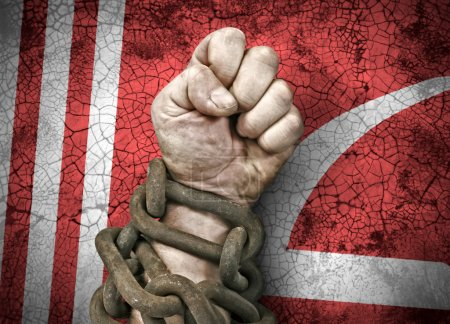 Hand, fist in chains