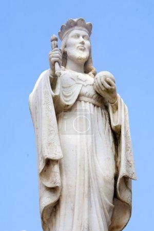 Sculpture of christian man
