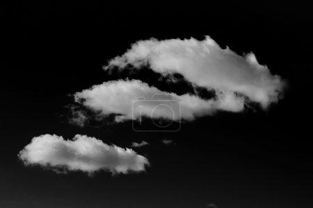 Cloud in black sky