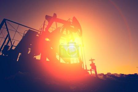 Black silhouette of oil pump