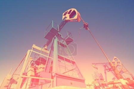 Colorful pendulum on oil pump station