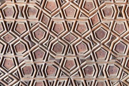 Geometric wooden pattern