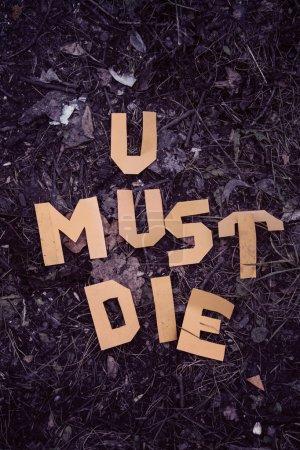 U must die inscription