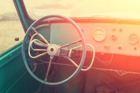Dashboard of old car