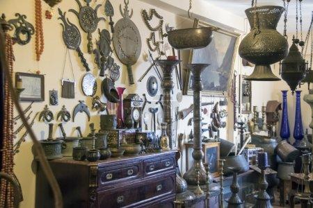 Interior of antique shop