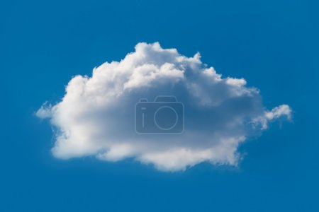 Sky with one cloud