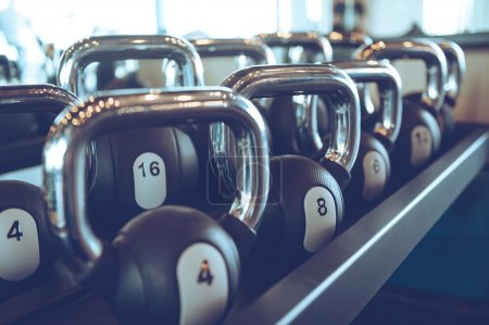 kettle bells at gym