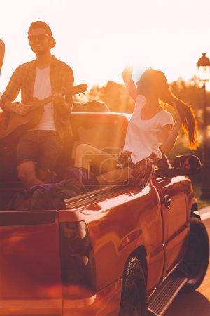 couple enjoying road trip