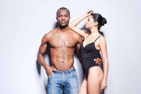 Beautiful young mixed race couple