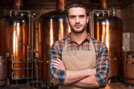 Male brewer in apron