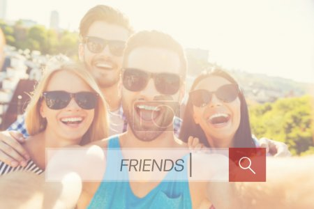 Photo for Cheerful  happy young people together - Royalty Free Image