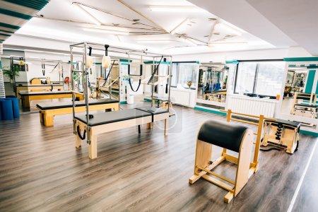 Pilates equipment pose